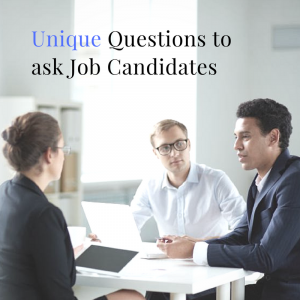 """What are your strengths and weaknesses?"" ""Where do you see yourself in 5 – 10 years?"" ""Why do you want to work for our company?"" We've all heard these questions before. Candidates often assume that you are going to ask them these standard interview questions. Try asking your interviewees more unique questions in order to see if they will make a good fit for your company. Sometimes it is difficult to see if that person is your next employee because the questions aren't exactly centered around the position nor company. ""What is the most stressful situation you have handled and what was the outcome?""  You want to see how the candidates handle stress. The position that these candidates are vying for might be a fast and high-pressure job. Instead of asking the candidates to describe themselves, this method gives them a chance to refer to a specific example that makes you get a better feel for their character.  ""If you won $20 million in the lottery, what would you do with the money?""  Non-traditional questions such as this one will ease the nerves of the interviewee and will give them the opportunity to let their personality shine. You will also be able to learn more about this individual's values and what is important to them. ""Describe a problem you had to solve and walk me through your thinking as you solved it.""  Questions like this show you what types of strategies candidates use to handle problems. These methods might not align with how your company solves issues, so that is why this is important to ask the candidate.  ""If you could have dinner with anyone from history, who would it be and why?""  Ask creative questions such as asking if the candidate could be a certain animal or meet a famous person as an icebreaker question! These questions make the interviewee more comfortable and gives them the chance to talk about their interests and passions.   Instead of focusing on the basic interview questions, ask these questions to find out more about your potential candidate's character and how they handle situations."